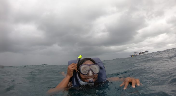 snorkelling for the first time